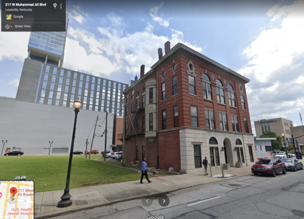 Three-story brick building, Liberty Hall AKA Odd Fellows building in Louisville, KY, is in danger of demolition